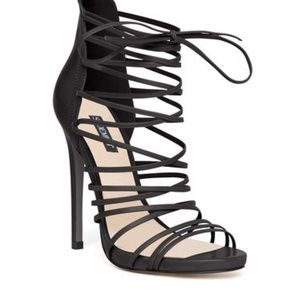 👠Shoemint Marcelle - Black Strippy Stiletto